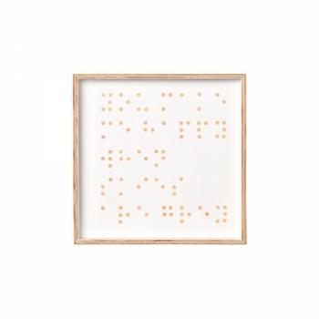 Onegirlstudio Braille Artwork 'You make me happy when skies are grey'