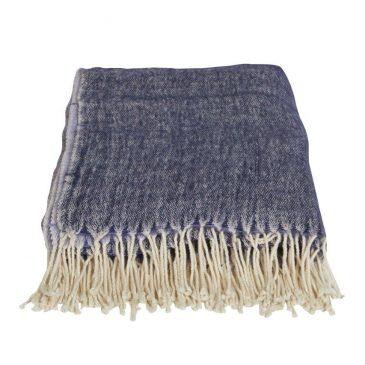 Piper Reversible Throw   Wool blend